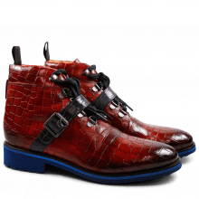 Ankle Boots Amelie 22 Crock Red Strap Navy Rook D Blue EVA Blue