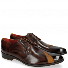 Derby shoes Toni 8 Mid Brown Dice Yellow