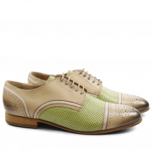 Derby shoes Sally 40 Salerno Cappu Perfo Lemon Binding Off White LS