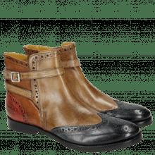 Ankle boots Amelie 11 Navy Ash Cognac Red Strap Ash HRS