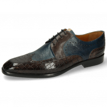 Derby shoes Elyas 2 Crock Deep Steel Haina Ice Blue