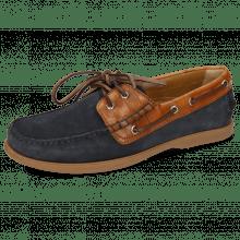 Boat shoes Jason 1 Suede Pattini Navy Venice Turtle Wood