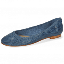 Ballet Pumps Kate 5 Woven Navy
