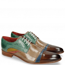 Derby shoes Toni 39 Nougat Crock Wind Digital Earthly Olivine Bio Algae