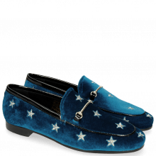Loafers Scarlett 1 Velluto Chine Embroidery Stars