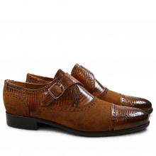 Monks Henry 11 Guana Tan Suede Cognac HRS