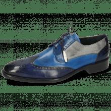 Derby shoes Jeff 14 Vegas Navy Mid Blue Pine Oxygen