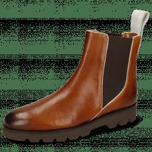 Ankle boots Susan 97 Imola Wood White Elastic Dark Brown