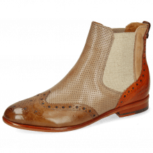 Ankle boots Selina 6 Pavia Tortora White Arancio Vegas Perfo Light Grey