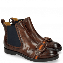 Ankle boots Amelie 62 Mogano Buckle Snake