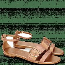 Sandals Hanna 35 Grafi Bronze Buckle Gold