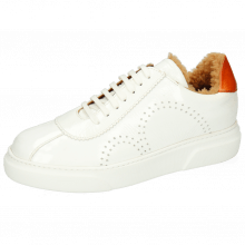 Sneakers Hailey 5 Soft Patent White Vegas Orange Sherling