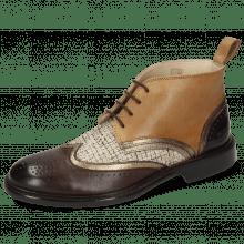 Ankle boots Sally 30 Imola Mogano Aztek Gold