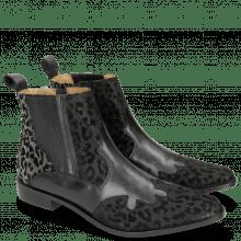 Ankle boots Marlin 25 Leo Glitter Black Salerno Black Gunmetal Elastic Black Lining