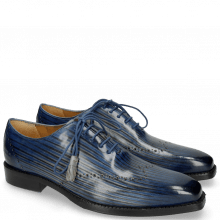 Oxford shoes Nicolas 1 Clear Water Lines Electric Blue London Fog