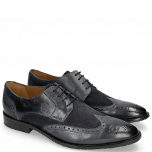 Derby shoes Victor 2 Rio Navy Suede Pattini Navy