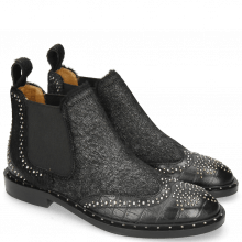 Ankle boots Sally 45 Big Croco Black Hair On