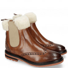 Ankle boots Amelie 63 Wood Full Fur Lining Beige