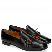 Loafers Scarlett 8 Black Patch Lips Bug