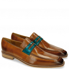 Loafers Leonardo 4 Tan Ice Blue