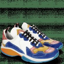 Sneakers Kobe 1 Suede Pattini Chine Sun Red Nappa White