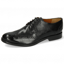 Derby shoes Amelie 3 Imola Black Lining Rich Tan