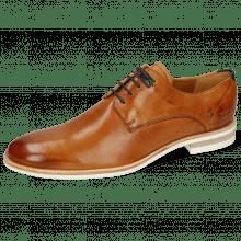 Derby shoes Clint 1 Imola Tan Deco Pieces Navy
