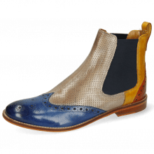 Ankle boots Amelie 5 Venice Neptune Blue Yellow Arancio Perfo Digital