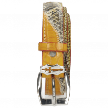 Belts Linda 2 Snake Yellow Hairon Halftone New Grass Sword Buckle