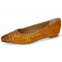 Ballet Pumps Lydia 3 Woven Scale Yellow Lining