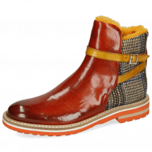 Ankle boots Amelie 80 Turtle Winter Orange Textile Quilesa