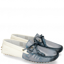 Loafers Caroline 8 Moroccan Blue Vegas White