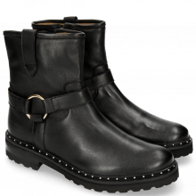 Ankle boots Bonnie 12 Nappa Aspen Black Rivets