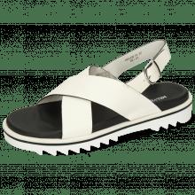 Sandals Helen 13 Flex White Edge Black Strap