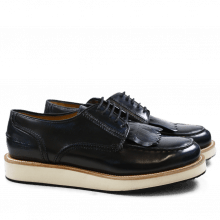 Derby shoes Kelly 13 Brush Blue XL Malden White Rubber Black