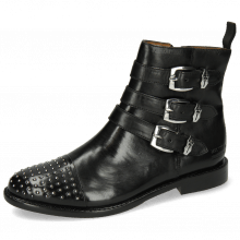 Ankle boots Selina 20 Black Sword Buckle Rivet Nickel