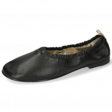 Ballet Pumps Iris 2 Nappa Perfo Black Super Flex