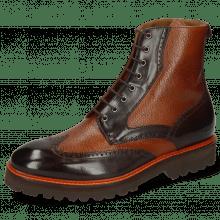 Ankle boots Matthew 43 Mogano Prato Woody Hand Stitching Orange