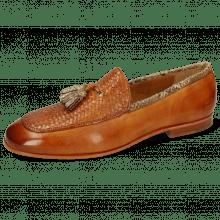 Loafers Clive 21 Imola Woven Tan Binding Snake Sand
