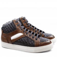 Sneakers Jeanne 2 Brilliant Wood Woven Dark Brown RS White
