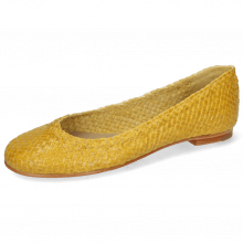 Ballet Pumps Kate 5 Woven Yellow