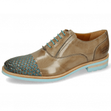 Oxford shoes Brad 8 Classic Interlaced Grigio Turquoise