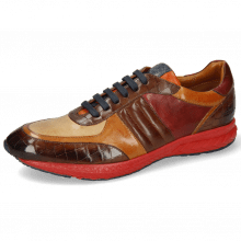 Sneakers Blair 13 Vegas Crock Dark Mid Brown Imola Tan Sand Plum Nappa Wood