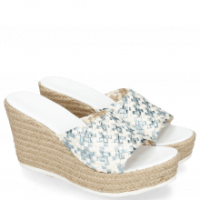 Mules Abby 1 Woven Satin Light Blue