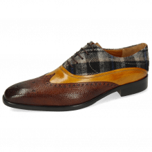 Oxford shoes Lewis 4 Python Wood Indy Yellow Textile Crayon