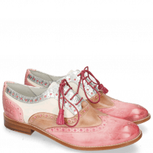 Oxford shoes Amelie 70 Vegas Skin Light Rose Timor Silver White