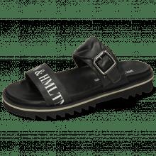 Sandals Helen 15 Nappa Black Screenprint
