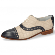 Derby shoes Jessy 54 Nappa Glove Deep Navy Cream