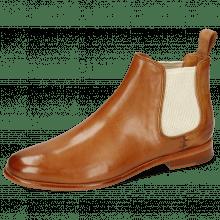Ankle boots Selina 48 Pavia Tan Elastic Off White
