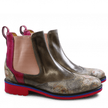 Ankle boots Amelie 13 Floret Classic Classic Nebbia Smoke Dark Pink Elastic Rose Rook D Fuxia EVA Blue